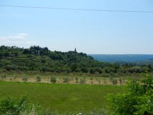 Pogled na Groznjan s Parenzane
